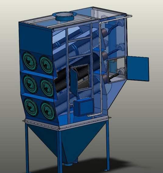 脉冲滤筒除尘器的工作原理