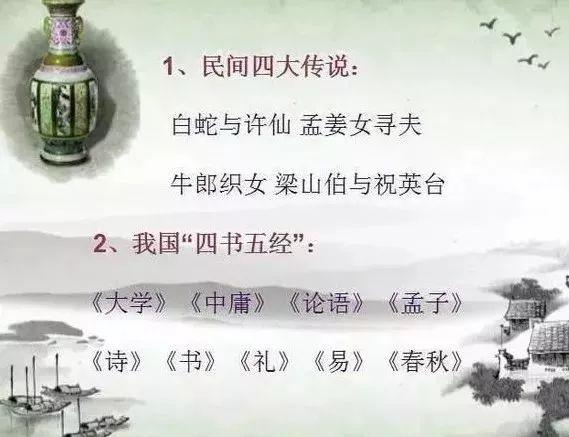 退休语文老教师:中华5000年常识制成一张表,必须让孩子背熟