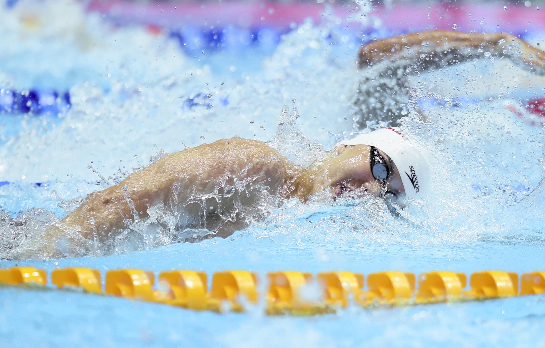 游泳———男子4X100米自由泳接力:中国队无缘决赛
