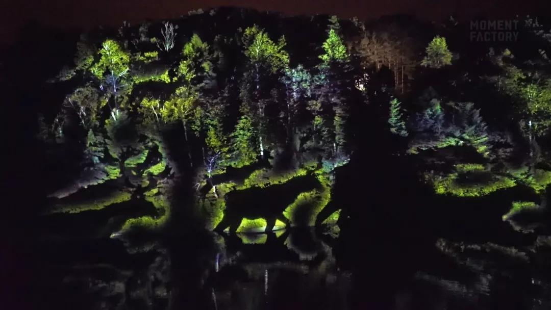 Lumina 景区夜游-森林动物投影效果