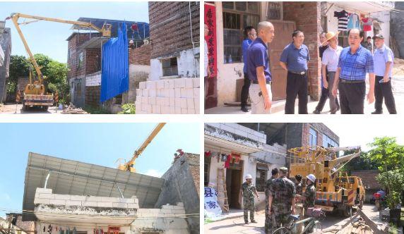 龙川县高铁项目控制区内违法扩建,被强制拆除…