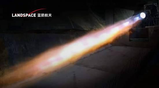 蓝箭航天80吨液氧甲烷发动机100 推力100秒试车成功