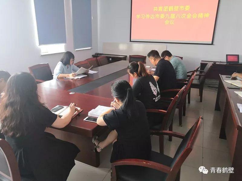 共青团鹤壁市委学习传达市委九届八次全会精神