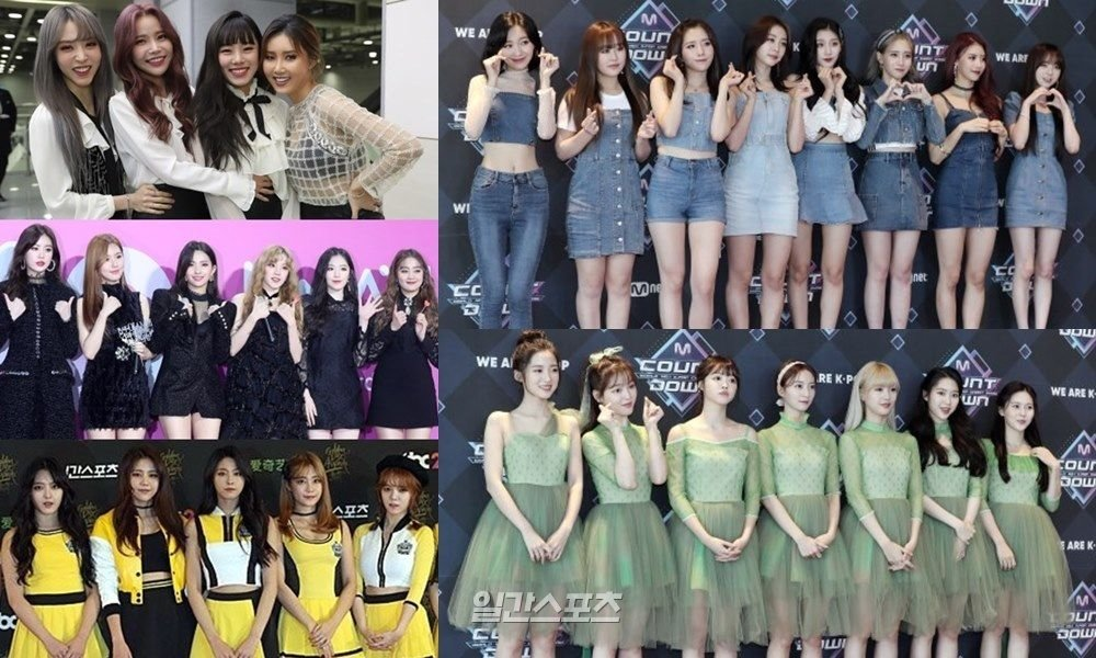 MAMAMOO AOA 朴春等参与MNET对决节目 同日发歌榜单PK
