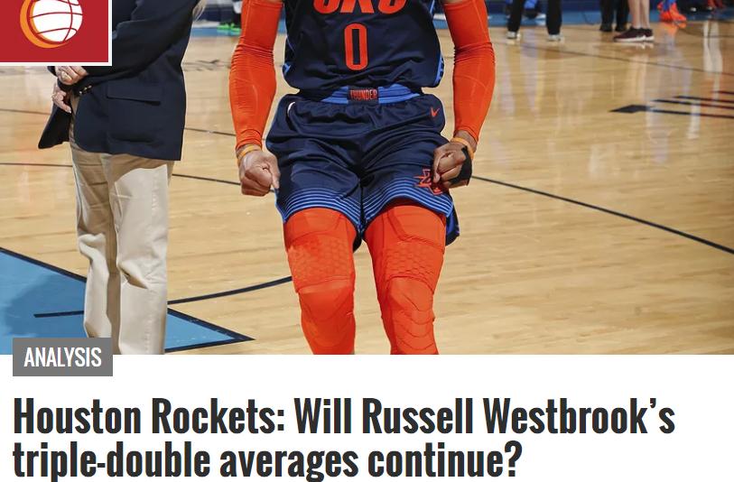 威少新赛季还能场均三双吗?美媒深度解析 篮板没问题助攻会很难_哈登