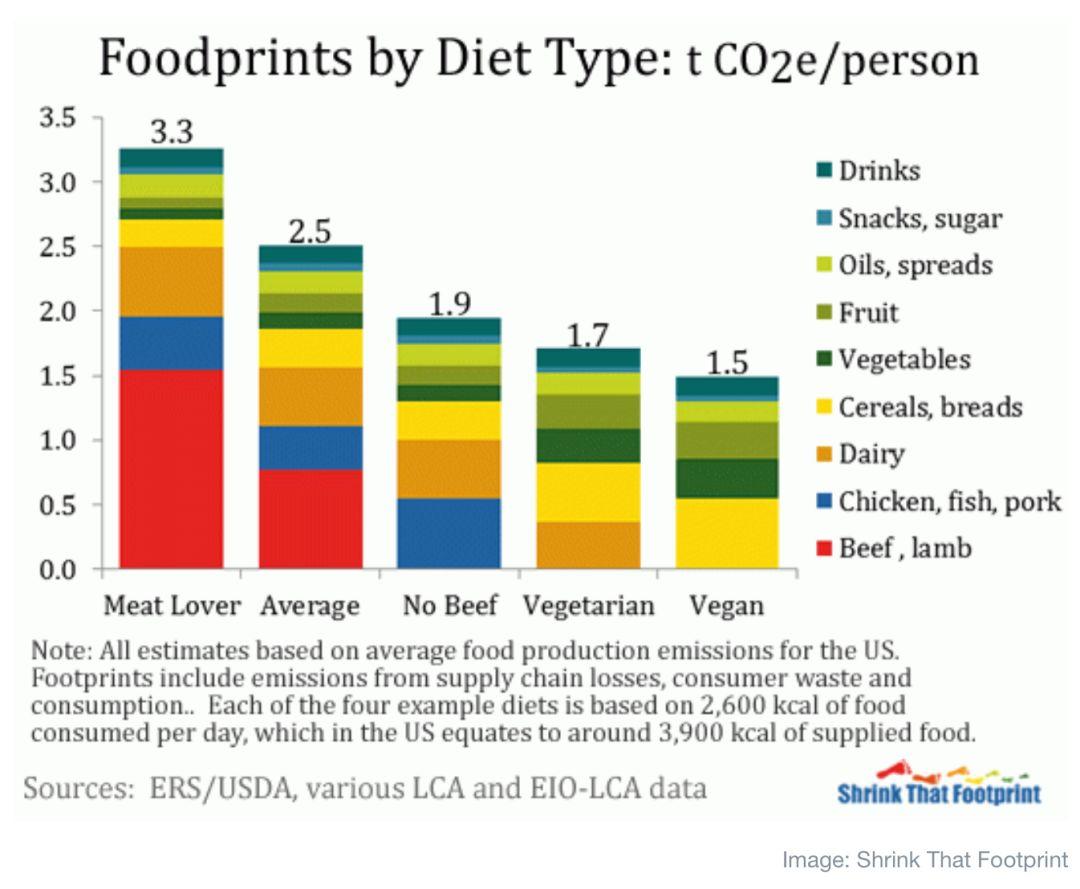【数据】吃素还是吃肉:一年碳排放相差有多大?插图