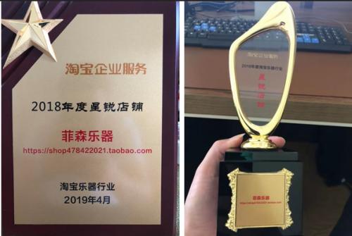 """无锡菲森乐器荣获2018淘宝乐器行业""""星锐店铺"""""""
