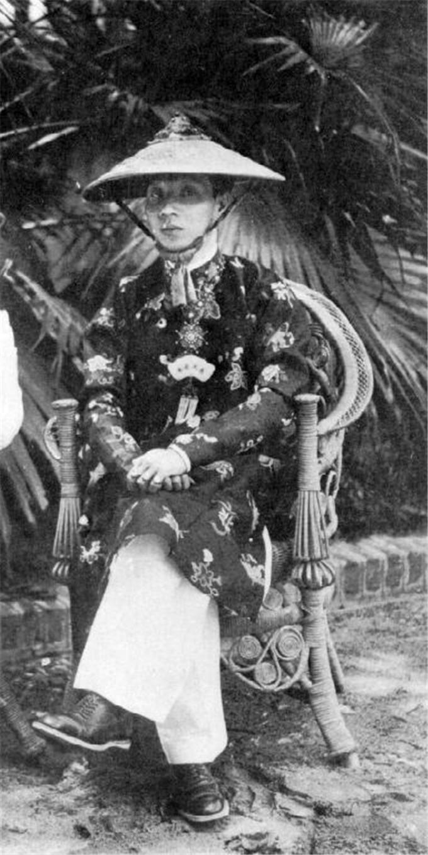 历史-越南阮朝王室相册,维新国王是个孩子,阮朝大臣是个华人(17)