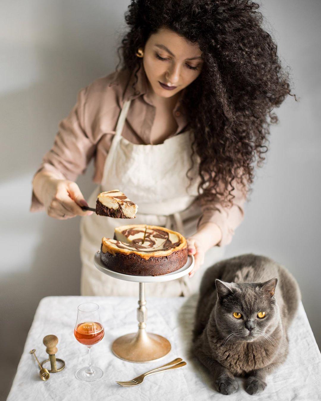 宠物-这位漂亮的美女蛋糕师,让猫咪来为蛋糕代言,将平淡无奇的蛋糕化腐朽为神奇(51)