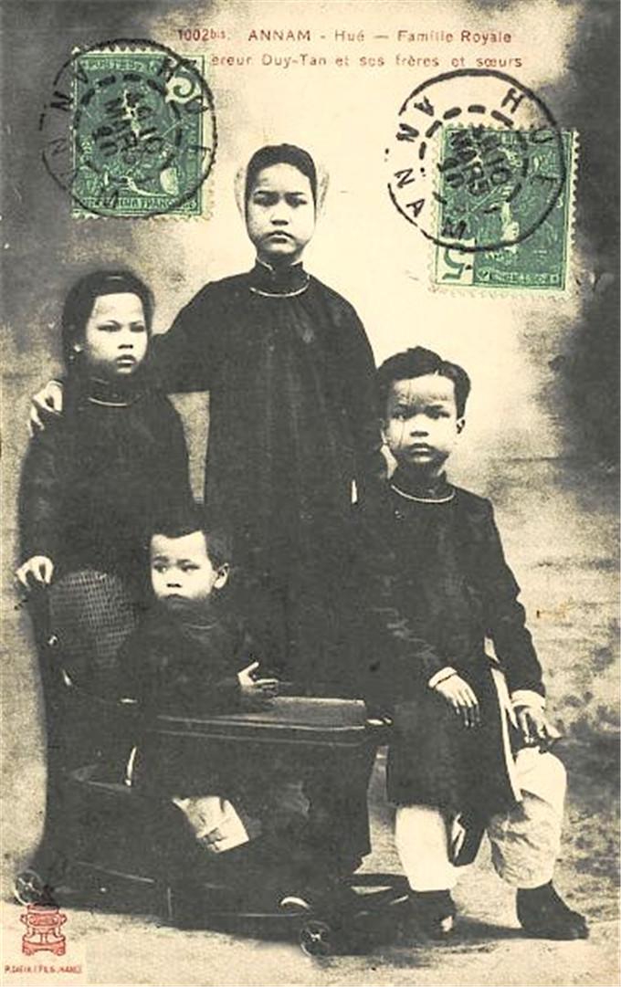 历史-越南阮朝王室相册,维新国王是个孩子,阮朝大臣是个华人(14)