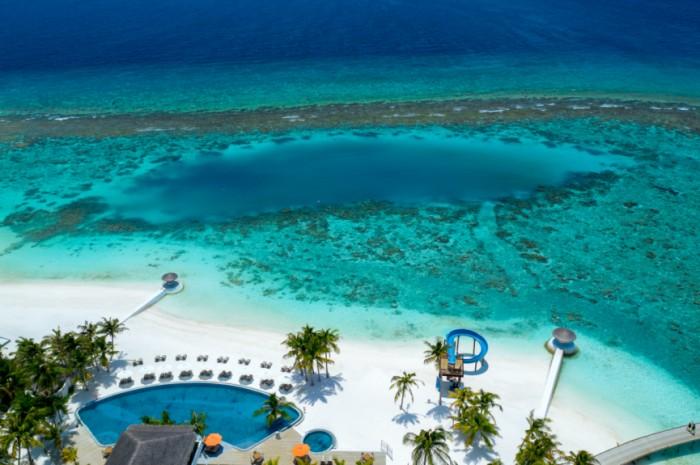 马尔代夫|奥静岛一周年,最年轻岛屿散发别样魅力_泳池