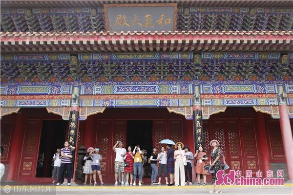 【媒眼看烟台】采访团走进蓬莱三仙山 探索东方山海神话源头