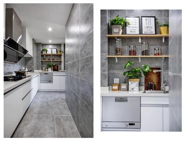 70平米小户型装修效果图四:厨房