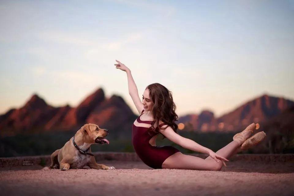 宠物-与狗狗共舞的芭蕾舞者(29)