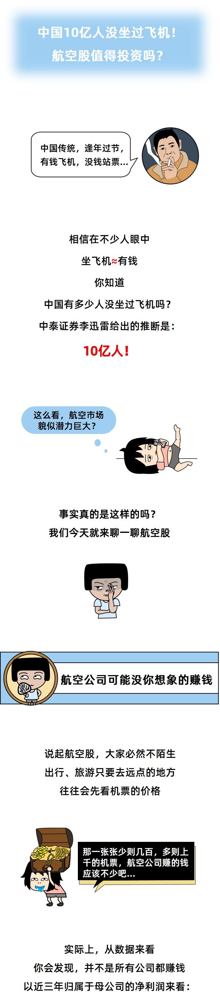 <b>小白学炒股 | 中国10亿人没坐过飞机!航空股值得投资吗?</b>