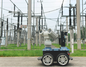 ch减速电机,安徽滁州智能机器人高温天气24小时巡检电网_宝桥