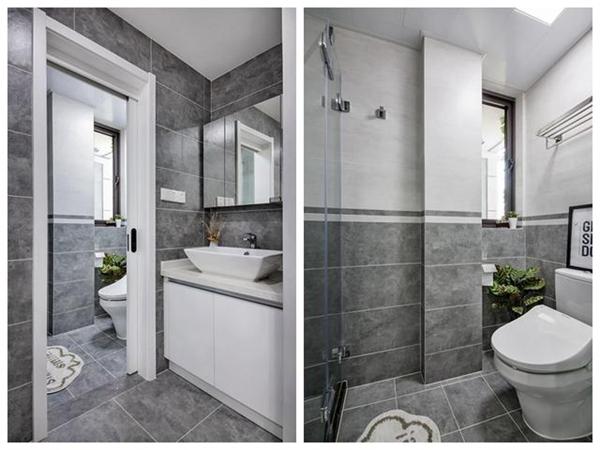 70平米小户型装修效果图六:卫浴间