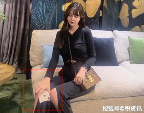 """韩安冉想把""""腿""""P瘦一点,结果手机遭罪"""