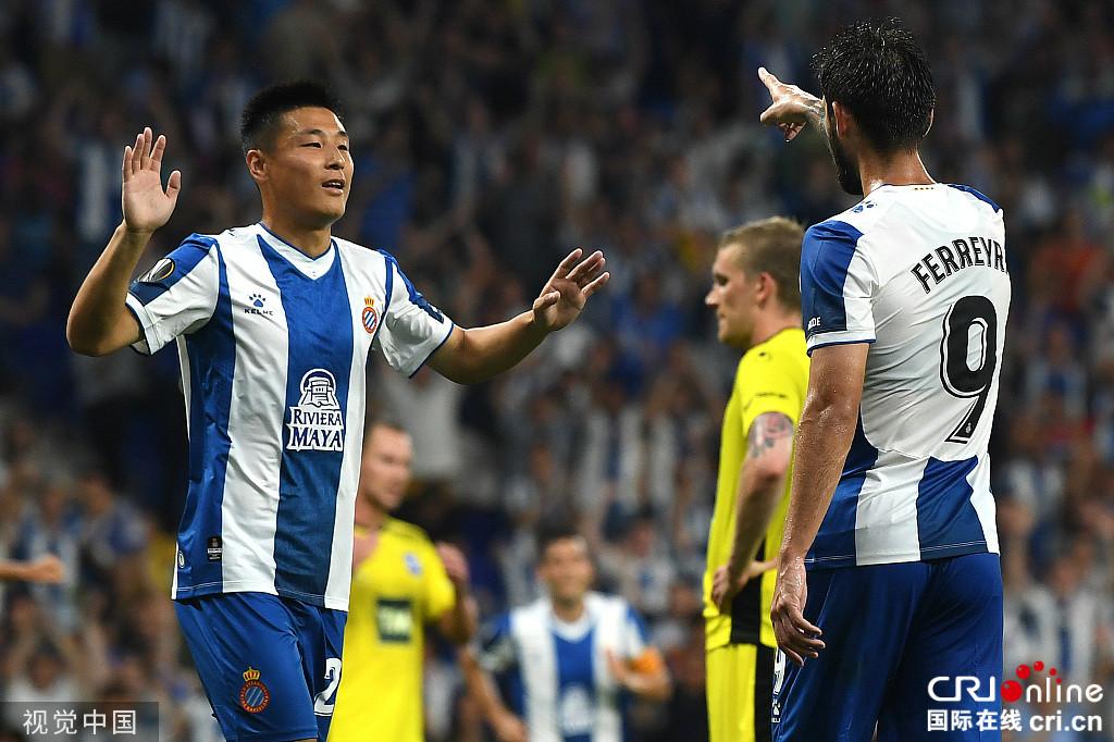 欧联-西班牙人4-0开门红 武磊替补策动进球