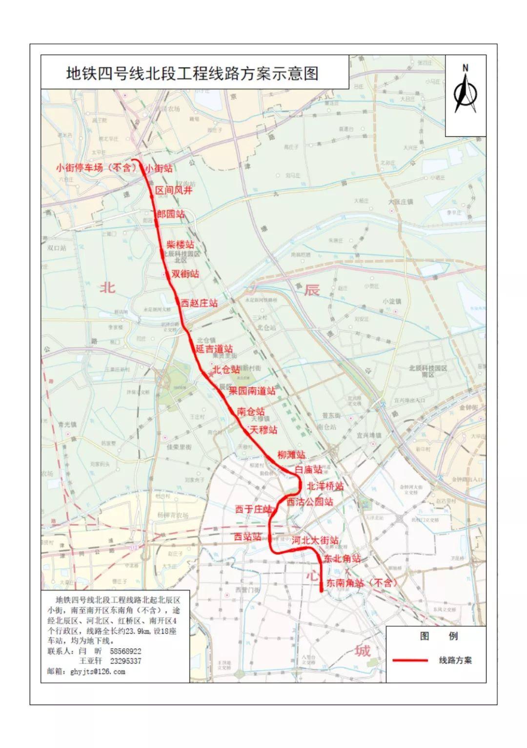 重磅!天津地铁4号线、地铁8号线线路方案公示,设有这些站点