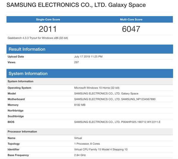 三星骁龙笔记本跑分曝光 内置2.84GHz芯片性能如何?