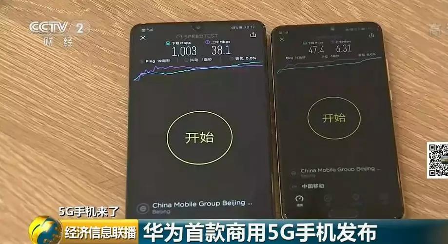 它来了!华为5G手机!记者实测下载速度↓ 5G时代,谁主沉浮?