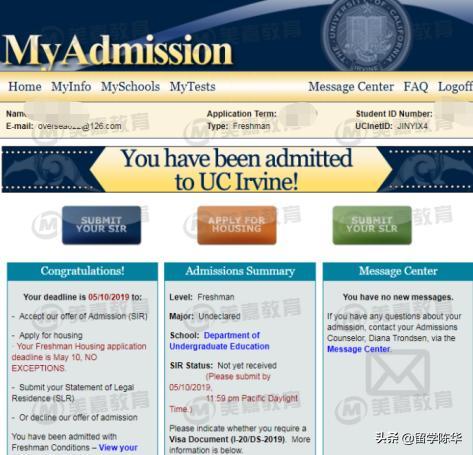 <b>北京12中学国际部,低托福低SAT如何申到加州欧文</b>
