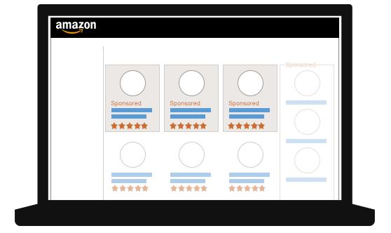 亚马逊商品推广的广告展示位置