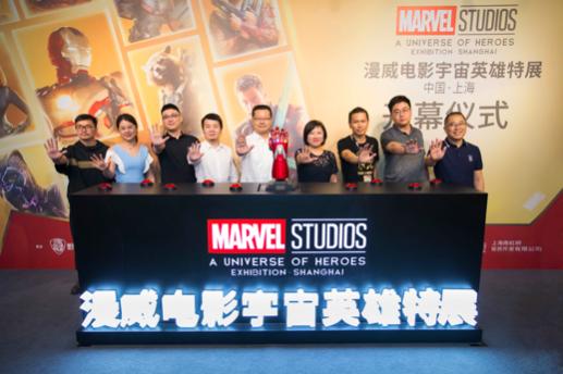 漫威电影宇宙英雄特展上海举办 巨型5米钢铁侠雕像惊艳