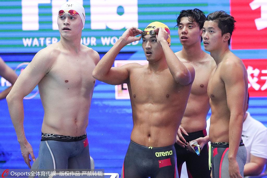 游泳世锦赛男200自接力澳洲夺冠 孙杨领衔中国第6
