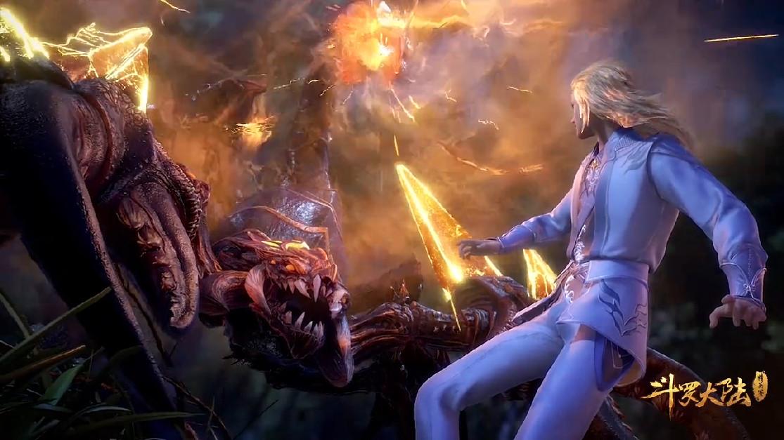 斗羅里最悲催的魂獸登場,破壞柳二龍好事,被蹂躪一頓!