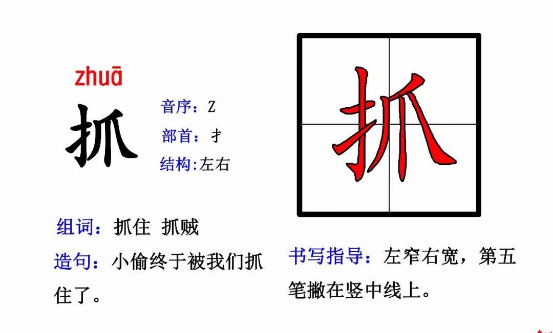 部编版二年级上册最新生字卡片(偏旁部首 组词造句)