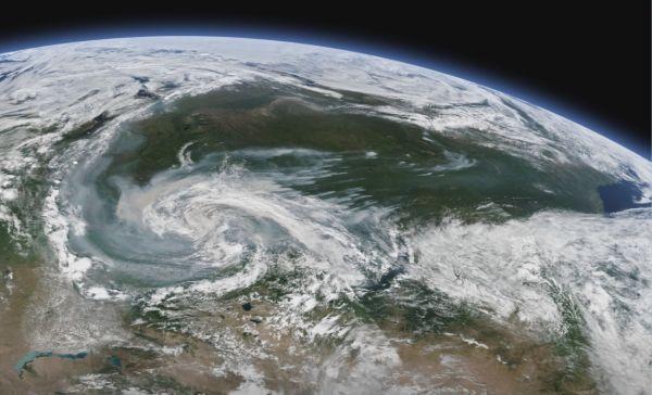 北极野火肆虐太空可见