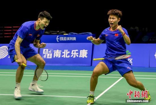 日本羽毛球公开赛:中国选手王懿律/黄东萍混双夺冠
