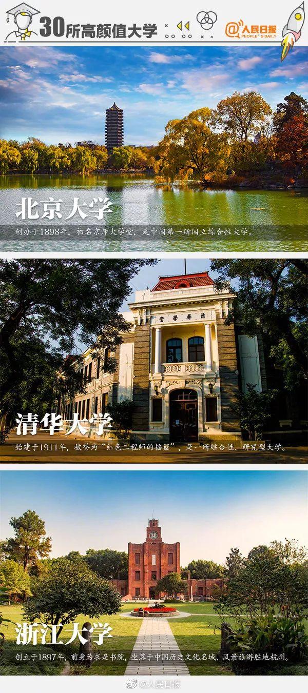 中国30所高颜值大学,个个实力不俗!