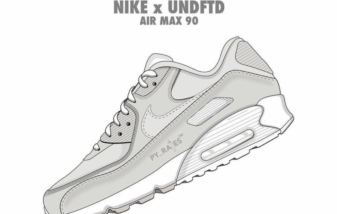UNDFTD x Nike Air Max 90三色联乘新策划曝光!发售时间一并来袭!