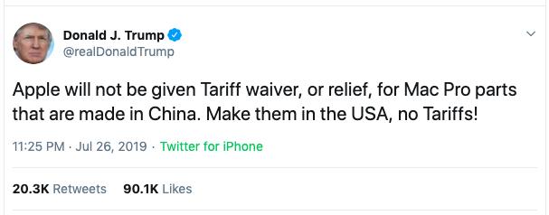 在特朗普眼里,苹果只不过是他针对中国的一枚棋子