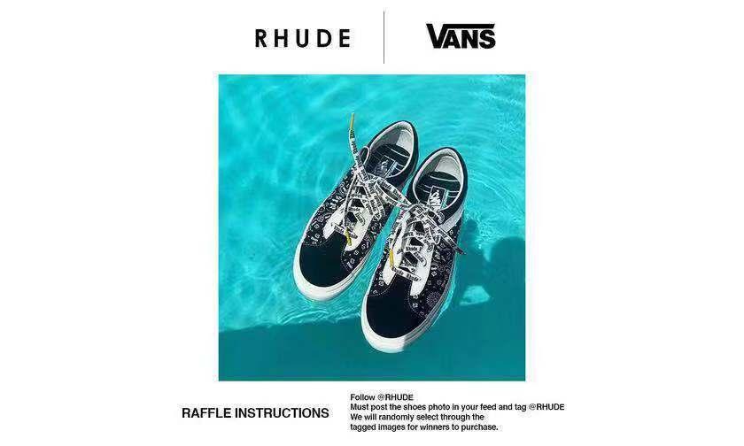 RHUDE x Vans 联名系列发售登记已开始!你还在等什么?