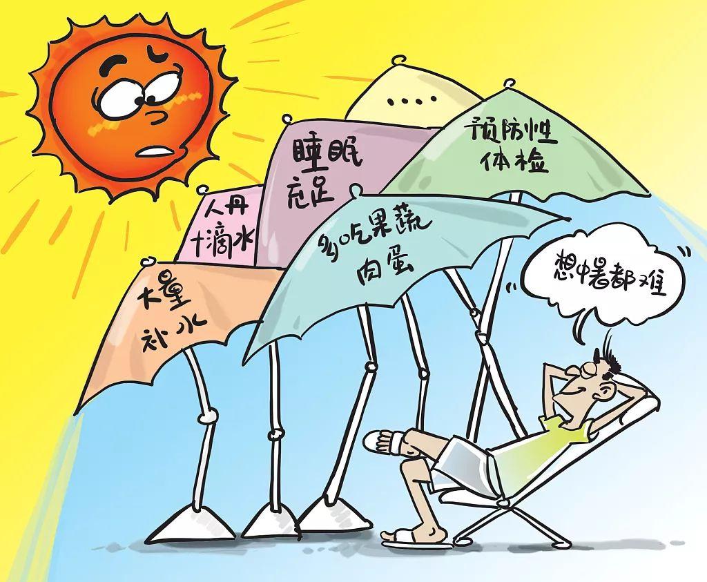 防中暑海报图片