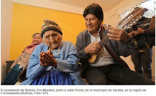 玻利维亚这位最年长奶奶获得政府赠送的一套房子?