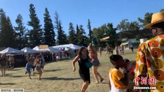 美加州美食节发生枪击案 已致1死60人受伤