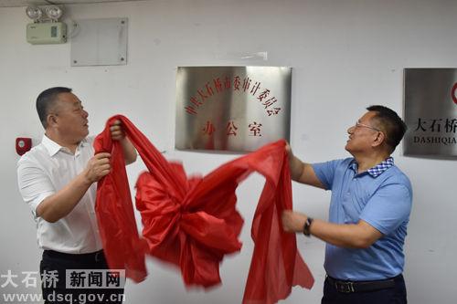 中共大石桥市委审计委员会办公室挂牌成立