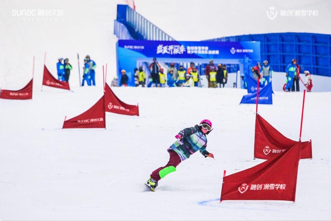 首支融创滑雪学校青少年竞技队诞生,最小成员仅7岁