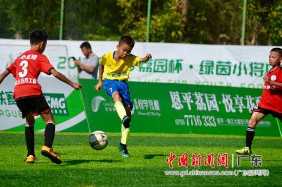 绿茵小将中小学生足球冠军联赛江门站开赛