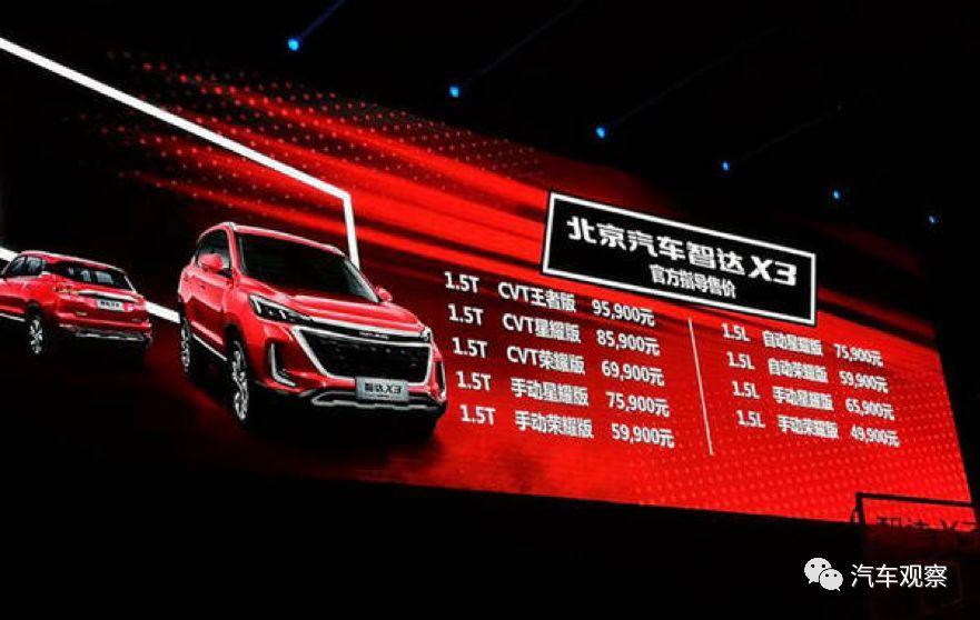 """原创                想要成为小型SUV的MVP 热血青年北汽智达X3燃""""擎""""上市"""
