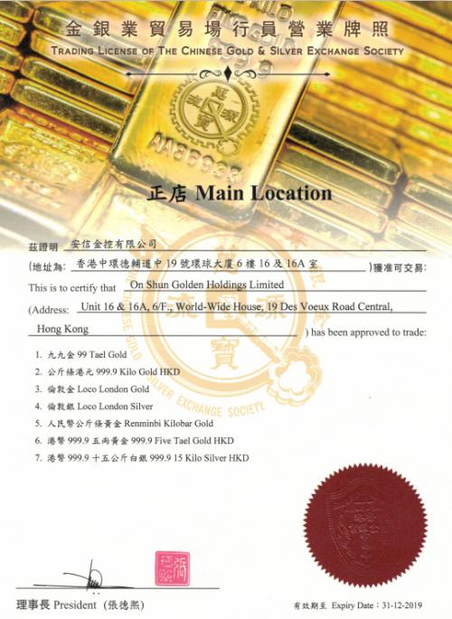 华北制药股票安信金控:黄金交易所香港占黄金市场的重要地