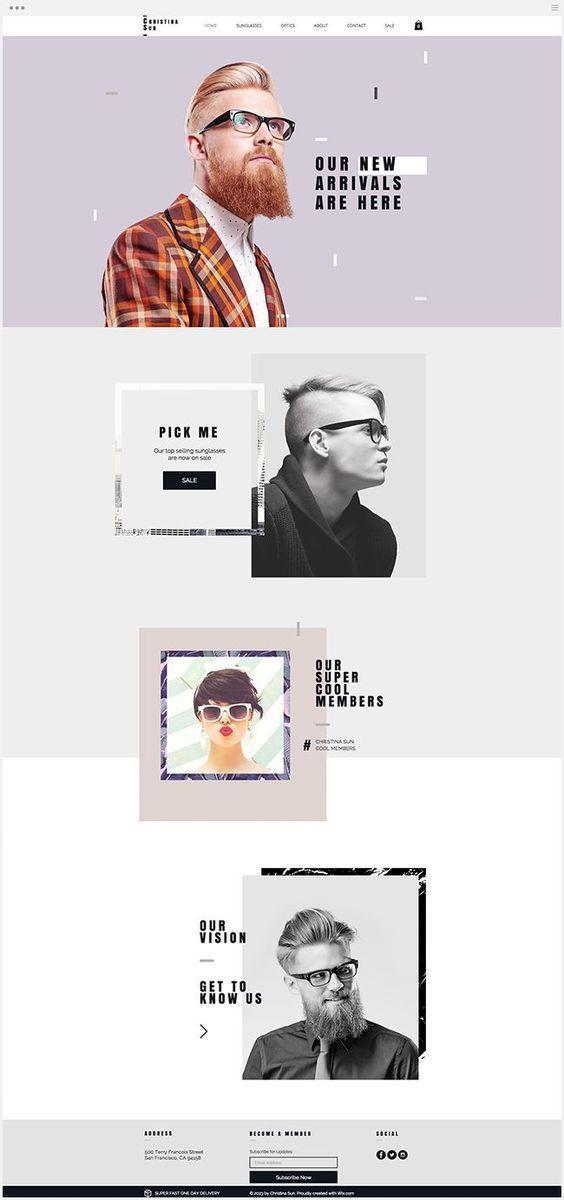 时尚人像元素网页设计 
