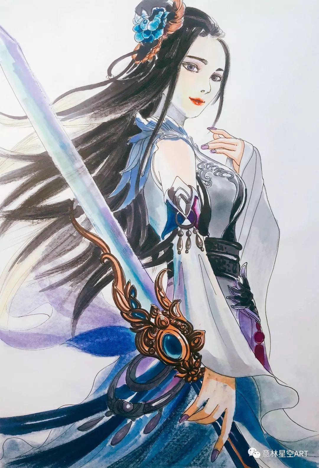 教程 | 游戏中风骨柔情的女侠,可以这么美!