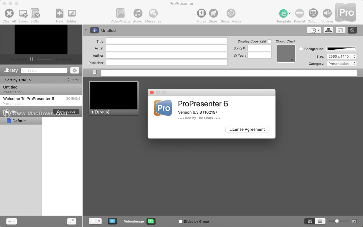 跨平台分屏演示工具:ProPresenter 6 for Mac