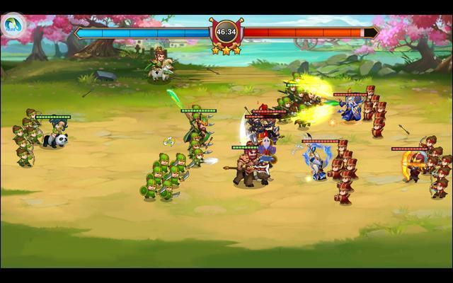 拒绝数值碾压,一切都是即时战斗,玩家可操控统帅武将的技能释放